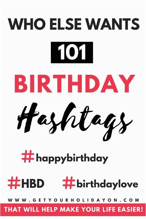 birthday girl hashtags