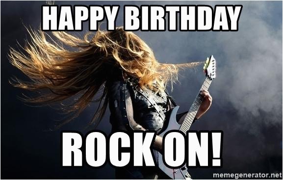 Heavy Metal Birthday Memes Happy Rock On Meme Generator