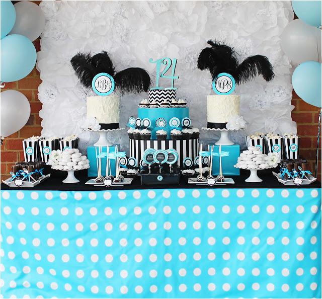 monogram birthday party madisons 14th