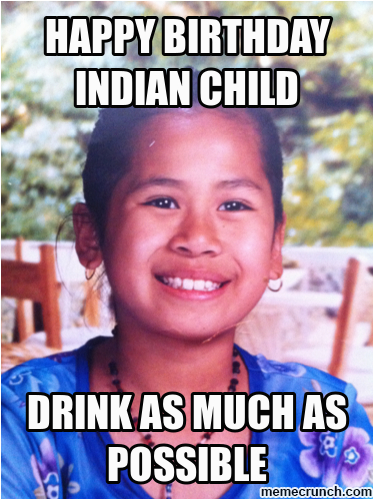 happy birthday indian child