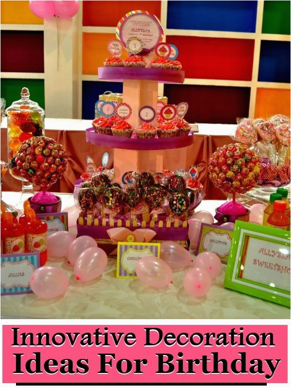 innovative decoration ideas for birthday