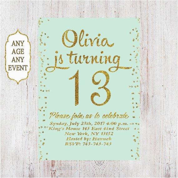 13th birthday invitation birthday party