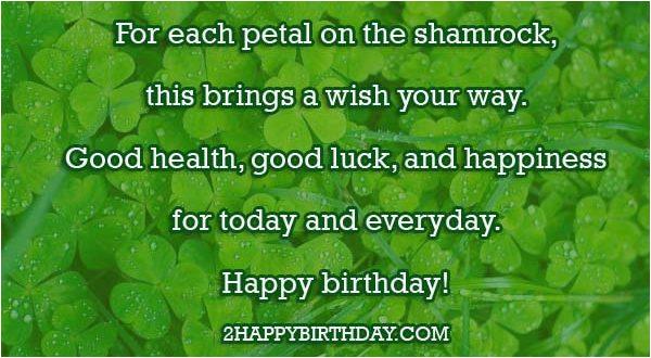happy birthday irish wishes