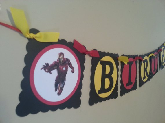 iron man birthday banner