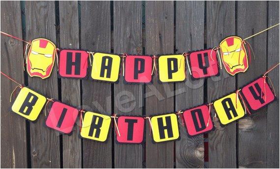 iron man happy birthday banner