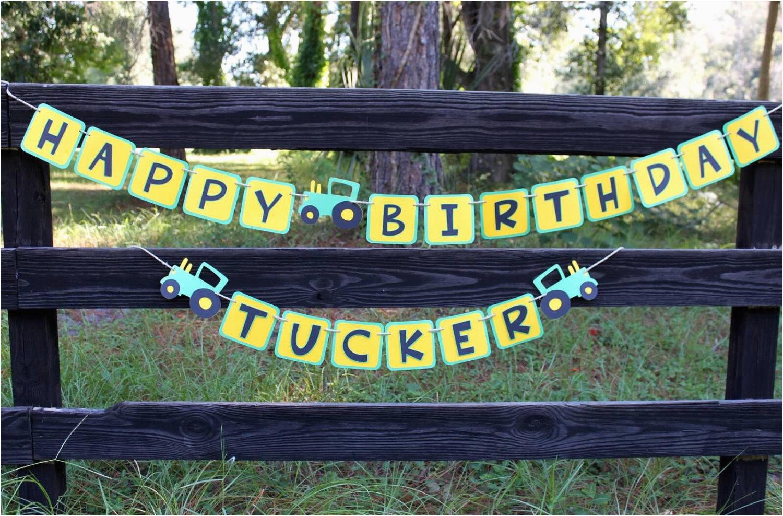 John Deere Happy Birthday Banner John Deere Birthday Banner John Deere Inspired by