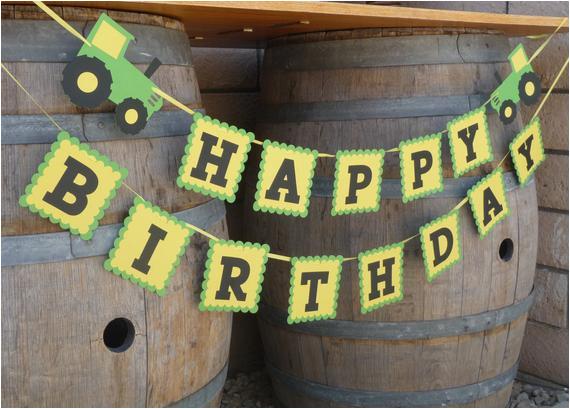 john deere green tractor happy birthday