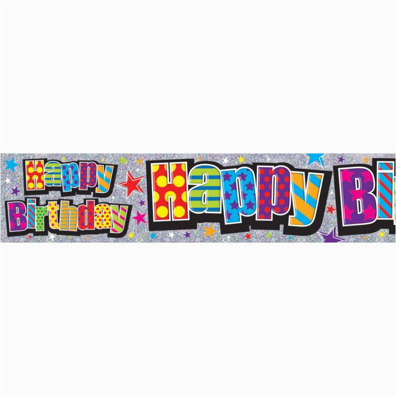happy birthday large banner 2 6m x 19 5cm