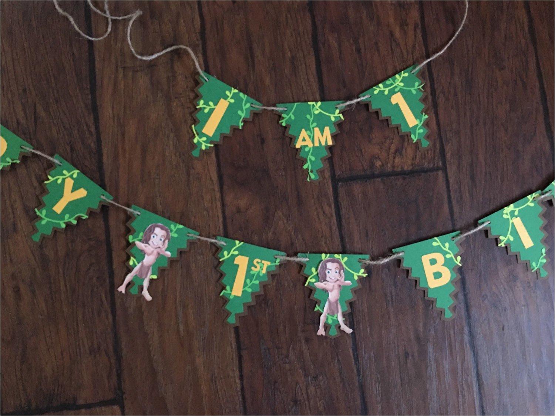 tarzan themed large happy birthday sign