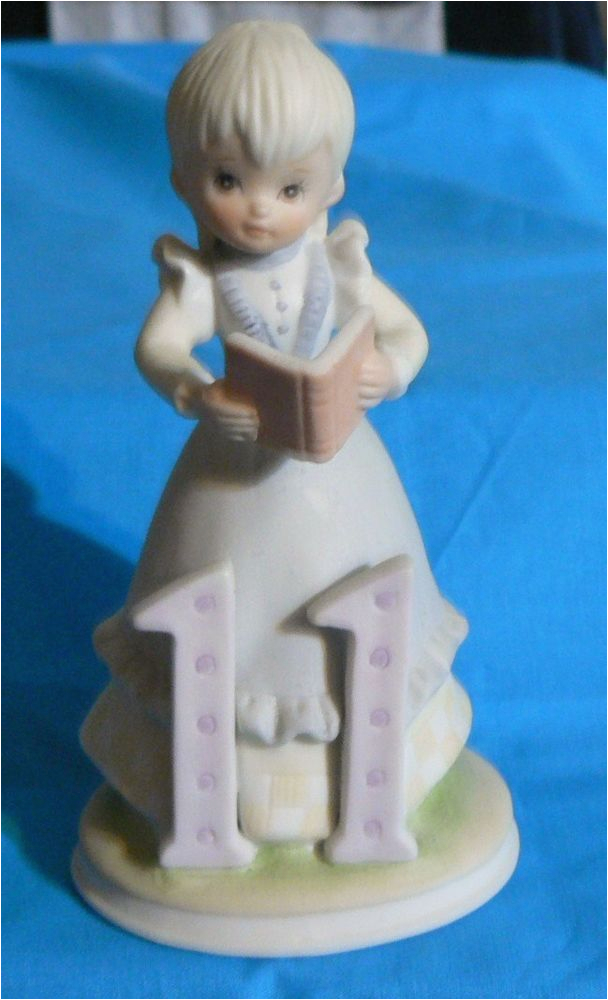 Lefton Birthday Girl Figurines Lefton the Christopher Collection Birthday Girls Figurine