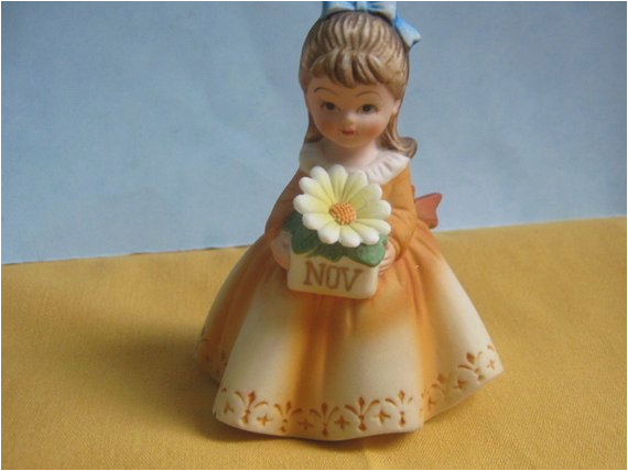 vintage birthday girl figurine november