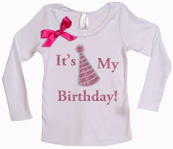its my party birthday girl long sleeve