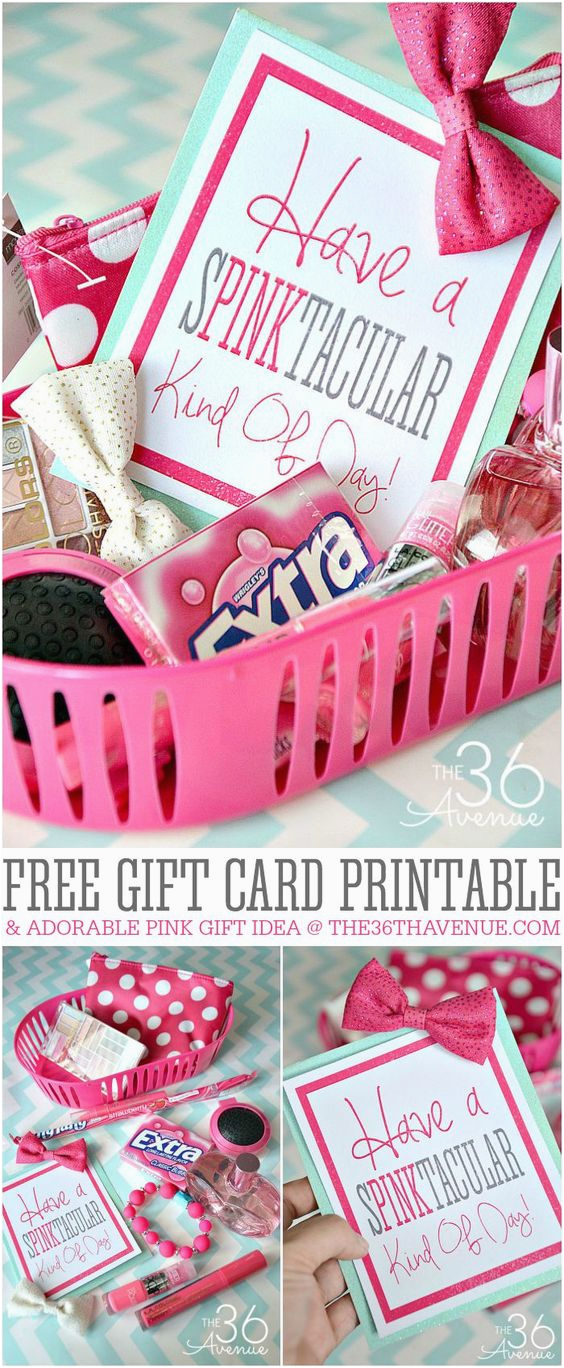Mail Birthday Gifts For Him Pink Gift Ideas And Free Printable On Pinterest