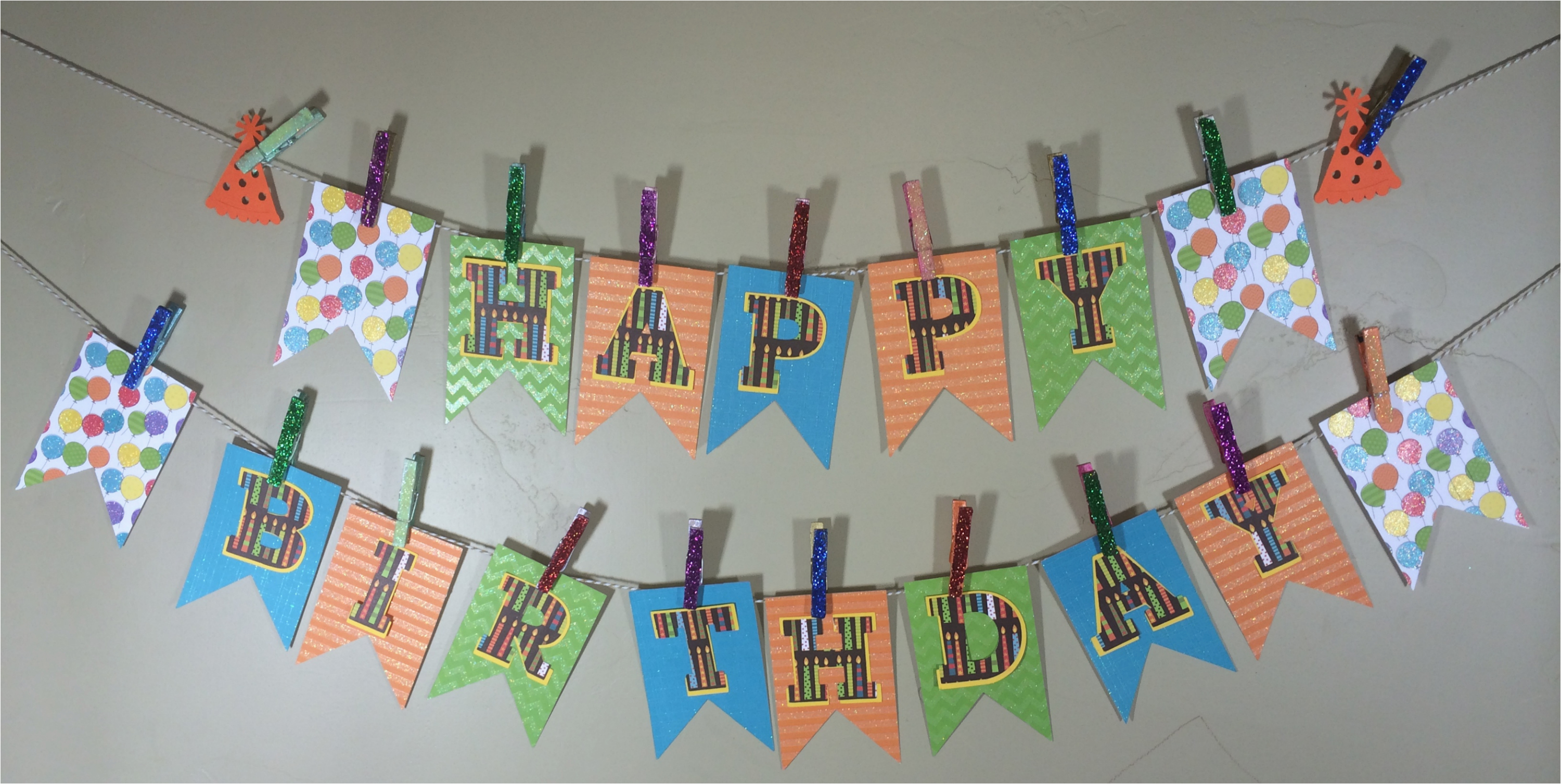 make your own birthday pennant banner