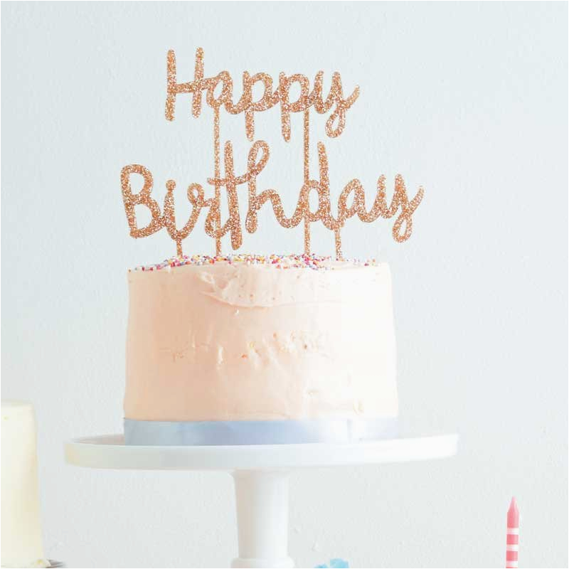 happy birthday cake topper meri meri