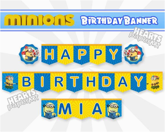 minions birthday banner happy birthday