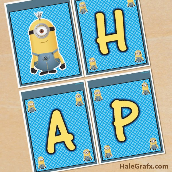 minions free printable happy birthday