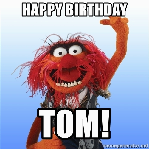 animal the muppet happy birthday tom
