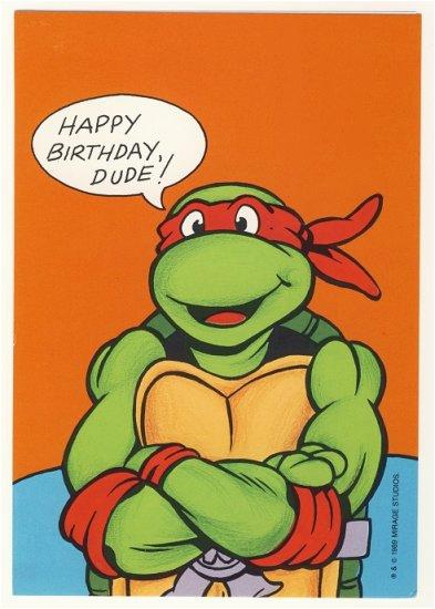 raphael birthday greeting card ninja