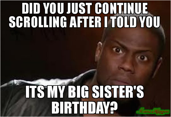 sister birthday meme