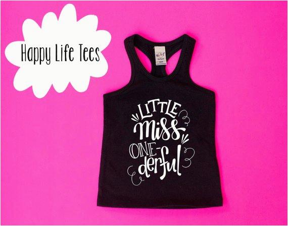 Onederful Birthday Girl Girls First Shirt Little Miss
