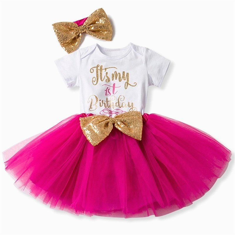 Outfits for 1 Year Old Birthday Girl One Year Old Baby Girl Birthday Outfits Lovely 3 Pcs Sets