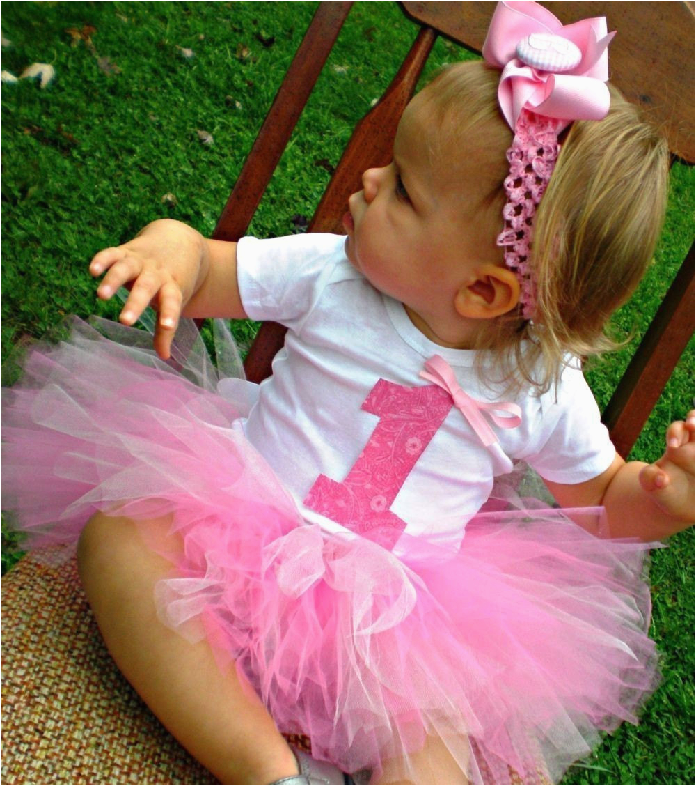 Outfits for First Birthday Girl Baby Girl First Birthday Tutu Outfit with Headband and Flower