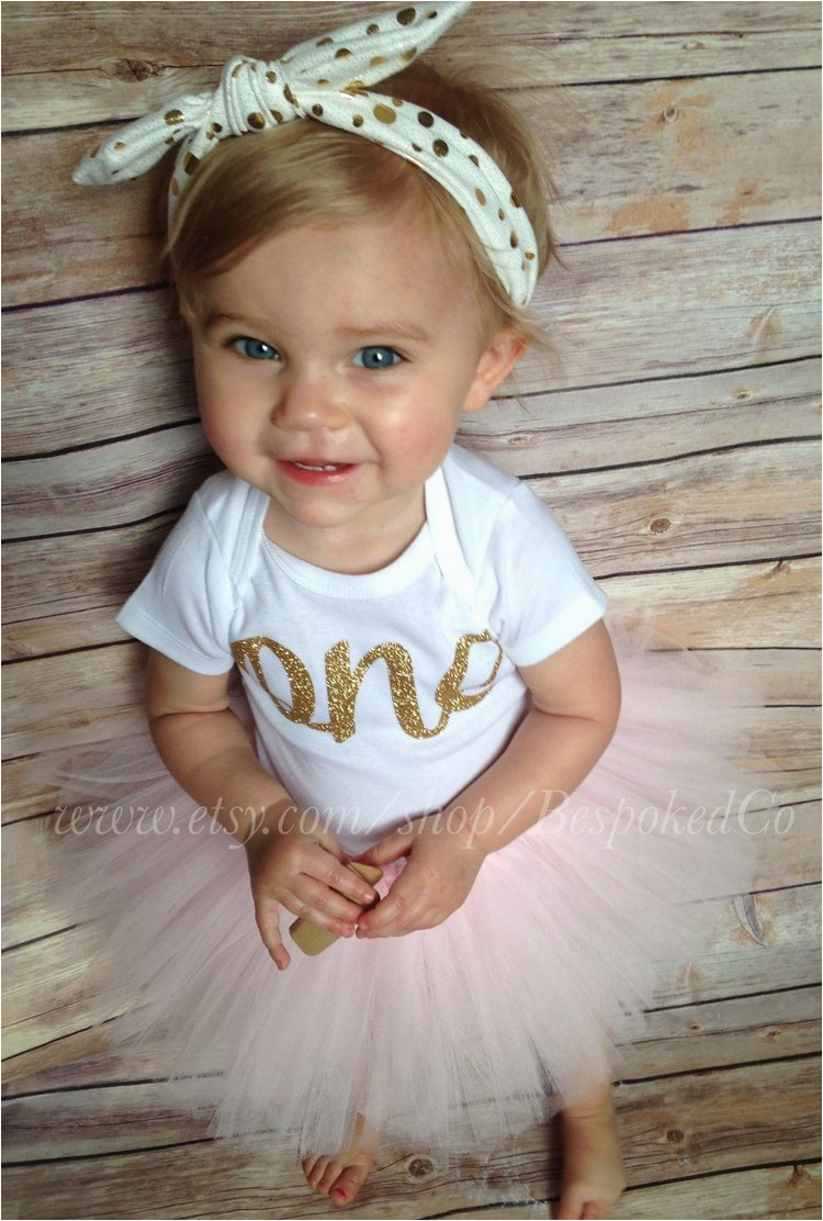 baby girls first birthday outfit with