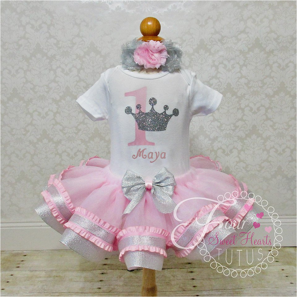 Outfits for First Birthday Girl Princess Birthday Outfit Pink Girls First Birthday Tutu