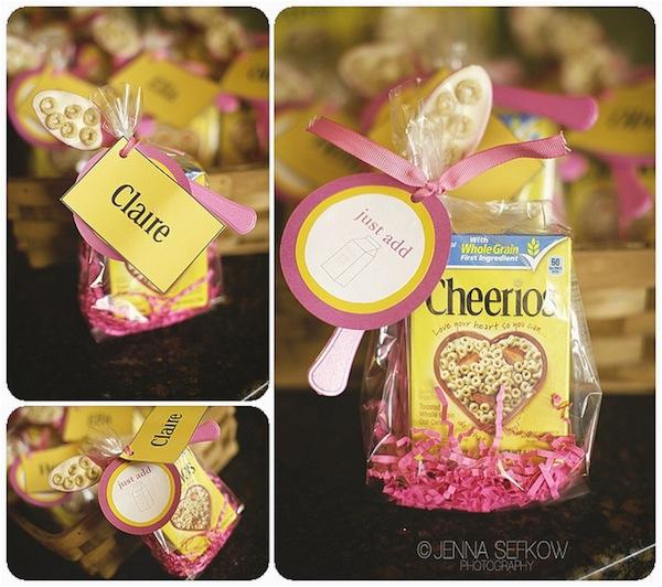 Party Favor Ideas for 1st Birthday Girl Kara 39 S Party Ideas Pink Cheerios Girl 1st Birthday Party