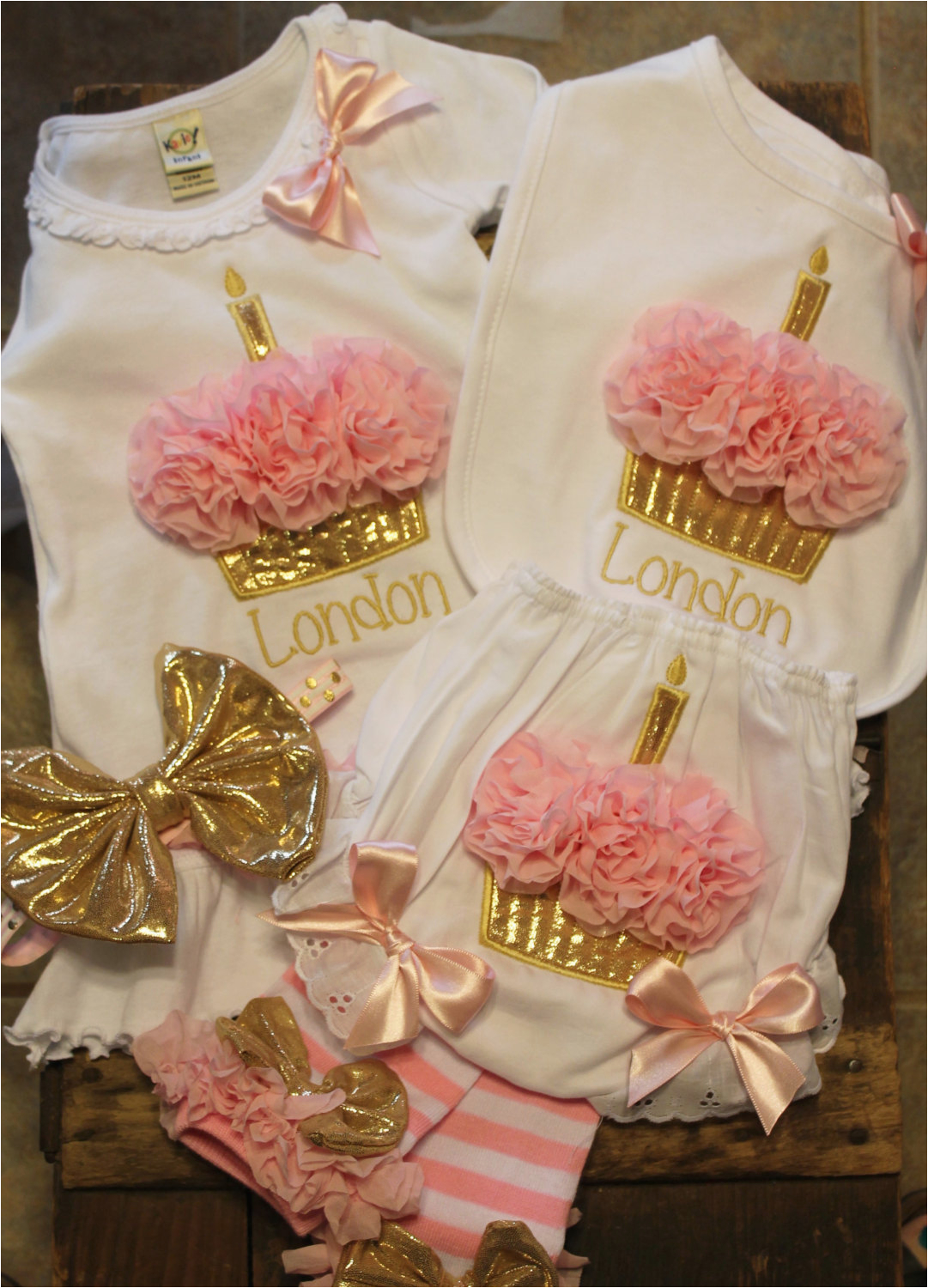 1st birthday girl outfit personalized