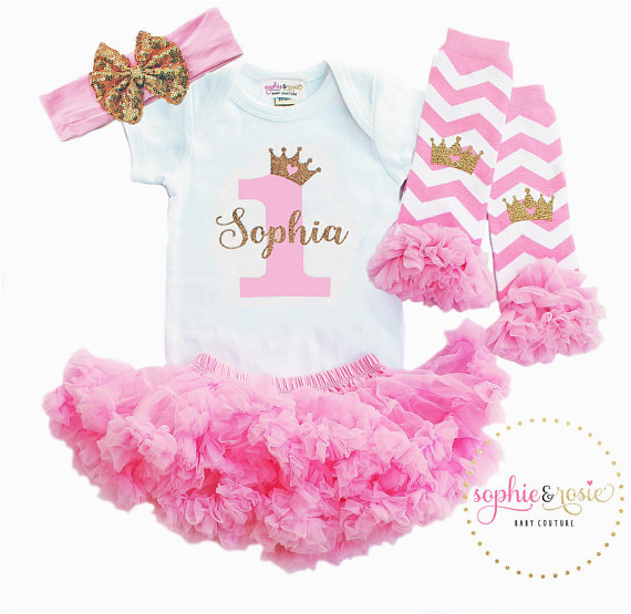 first birthday outfit personalized 1st