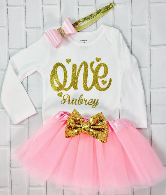 personalized 1st birthday outfit one