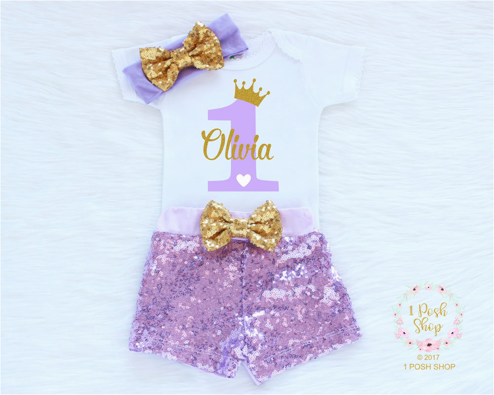 personalized first birthday outfit girl