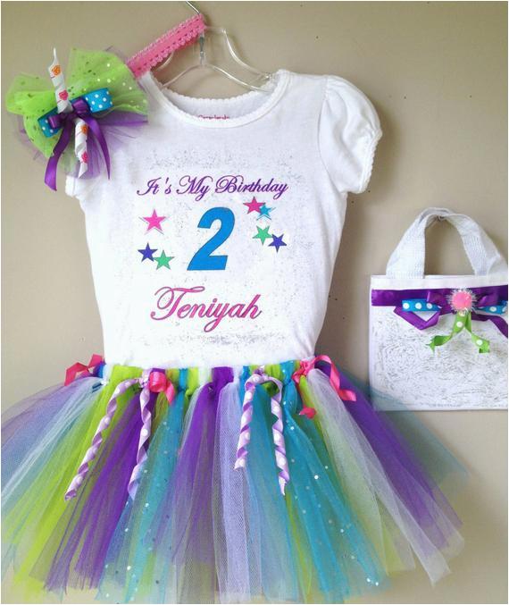 custom girl birthday tutu outfit
