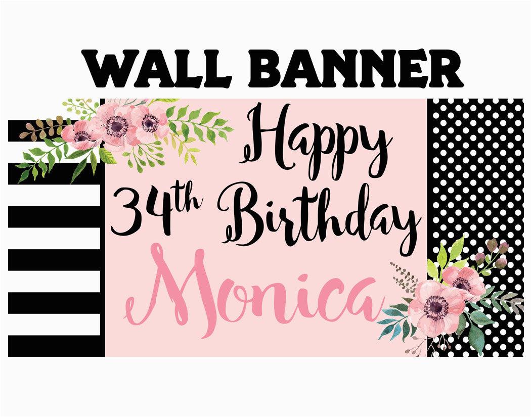 happy birthday banner birthday blush