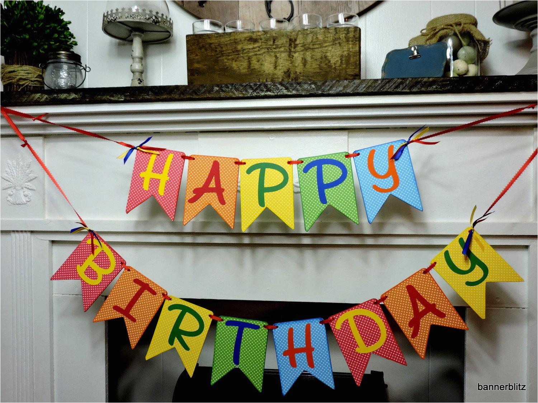 happy birthday banner name banner custom