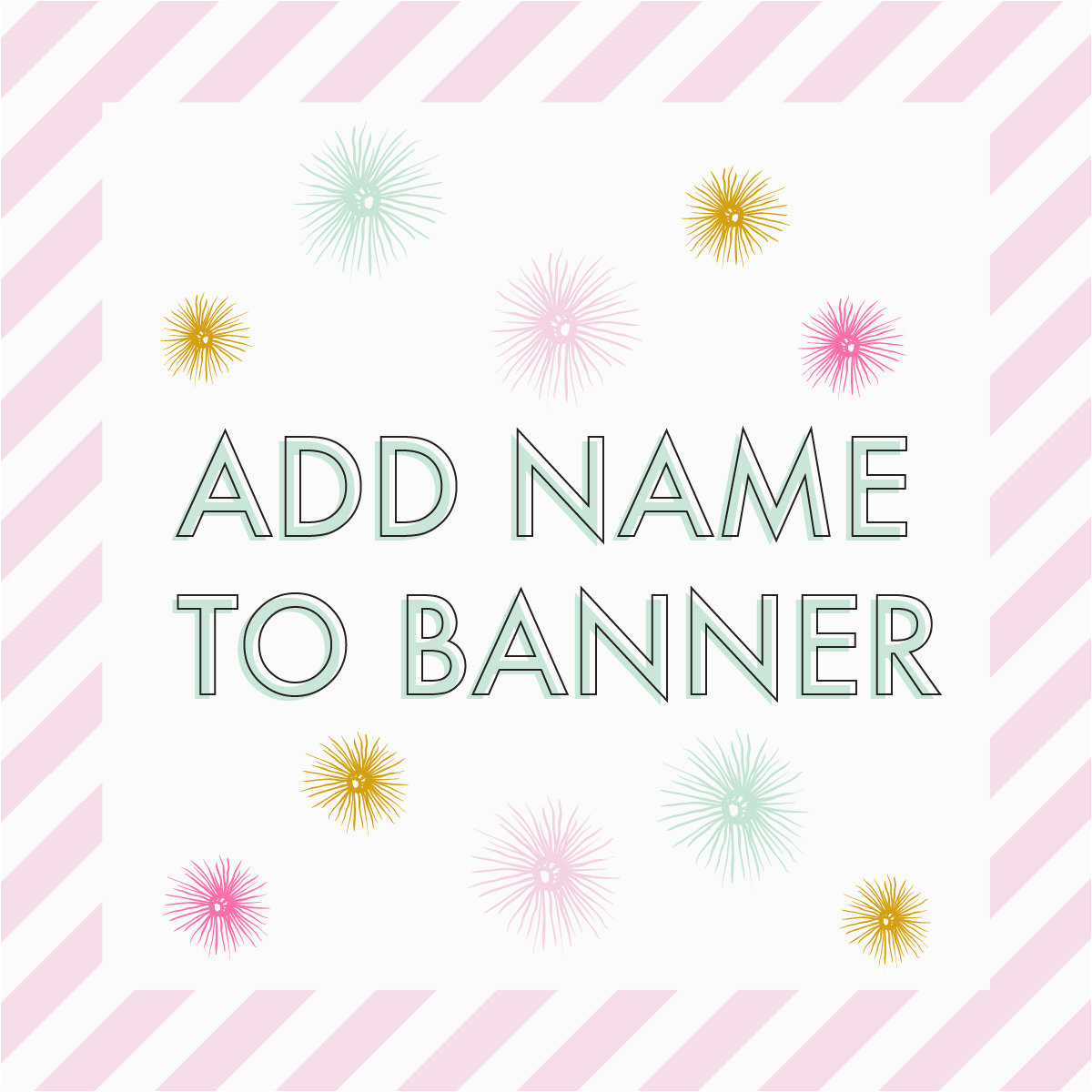 personalized happy birthday banner add
