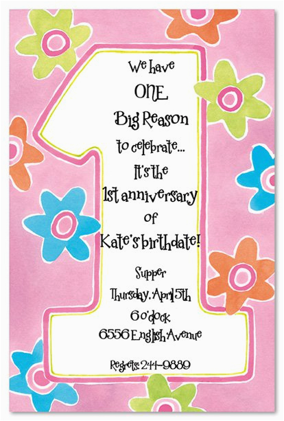 printable 1st birthday invitations girls