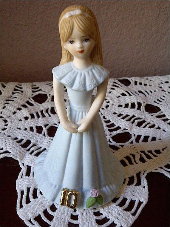 Porcelain Birthday Girls Enesco Birthday Girl Age 10 Porcelain Figurine