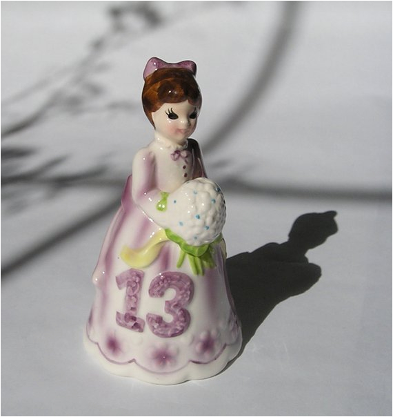 vintage porcelain ceramic 13th birthday