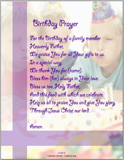 prayers birthday prayer