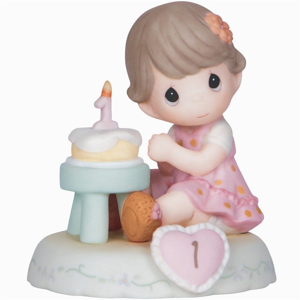 Precious Moments Birthday Girl Figurines Birthday Gifts Growing In Grace Age 1 Bisque
