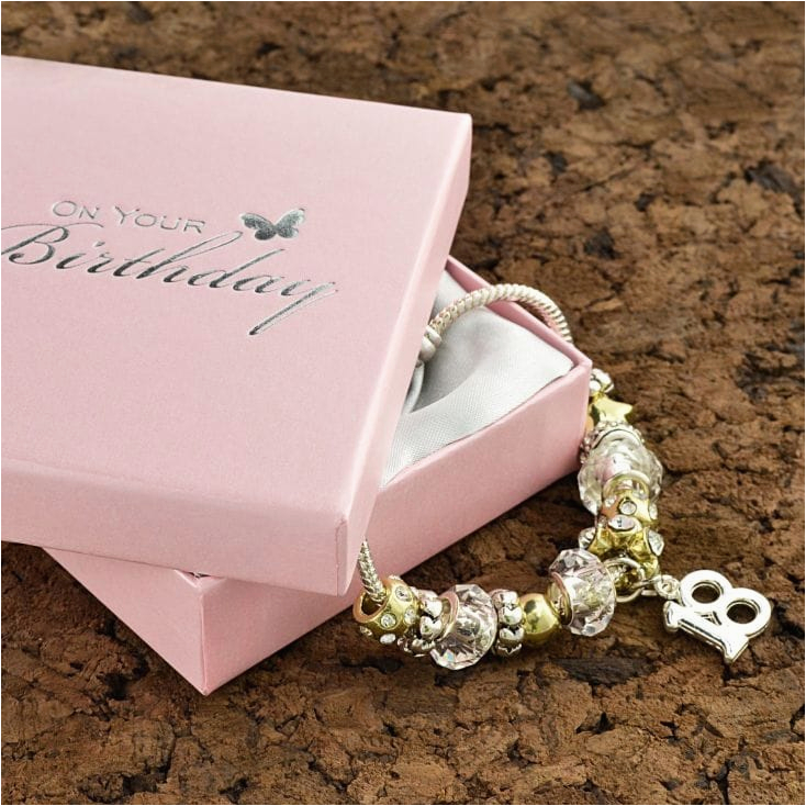 18th birthday charm bracelet