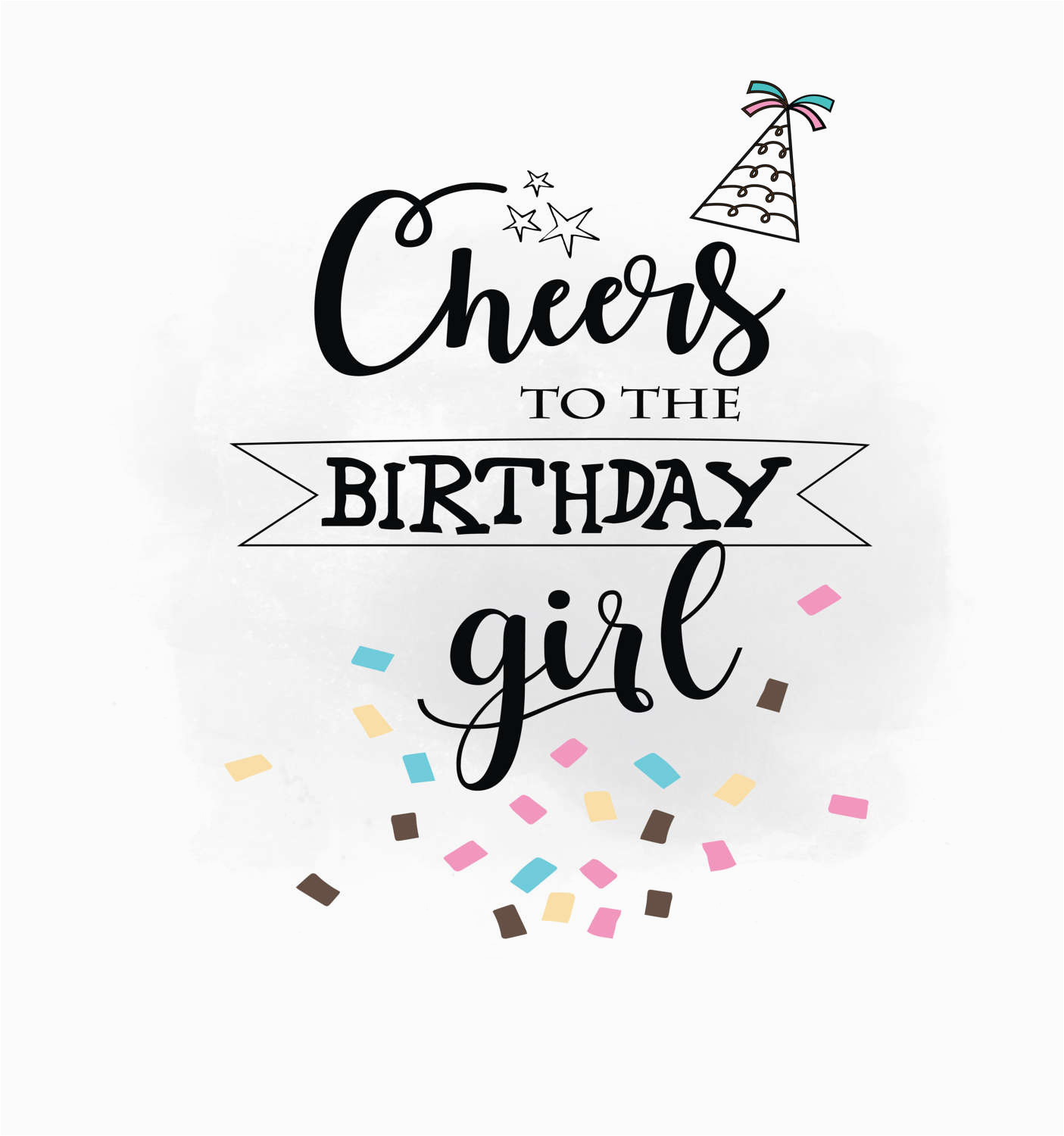cheers to birthday girl svg clipart