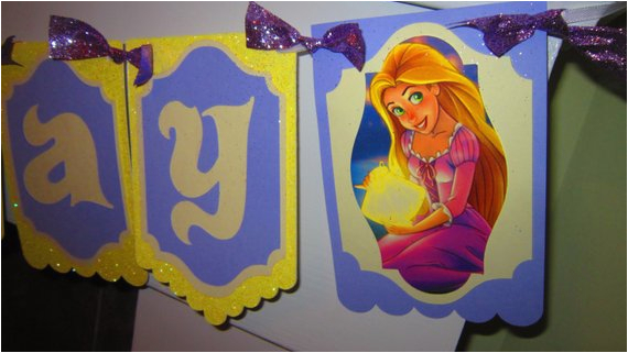 rapunzel happy birthday banner tangled