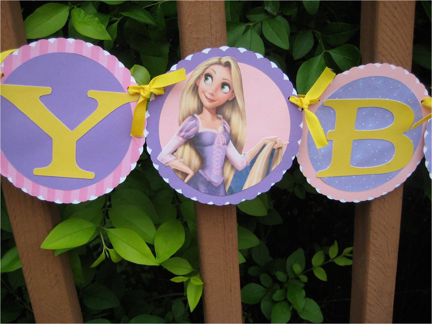 rapunzel happy birthday banner