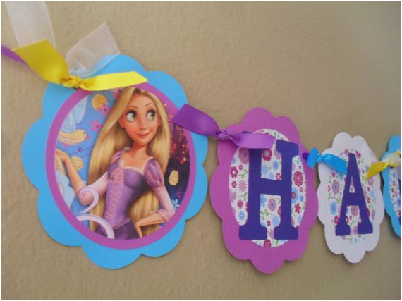 rapunzel tangled happy birthday banner