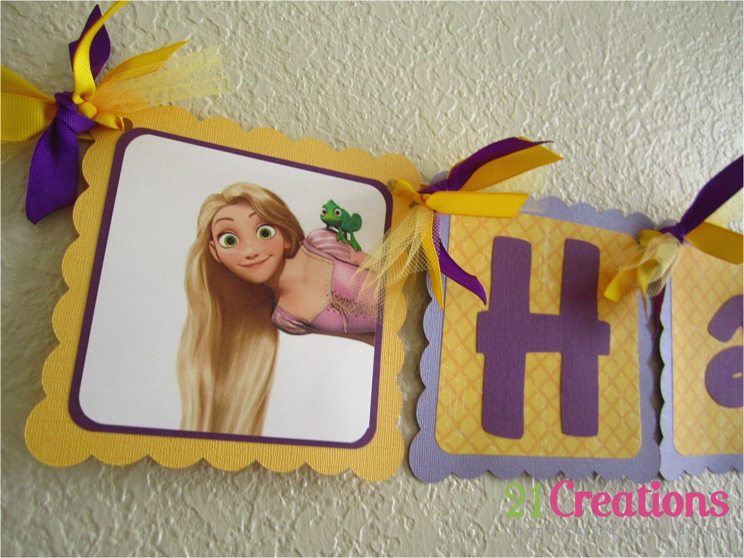 tangled birthday banner