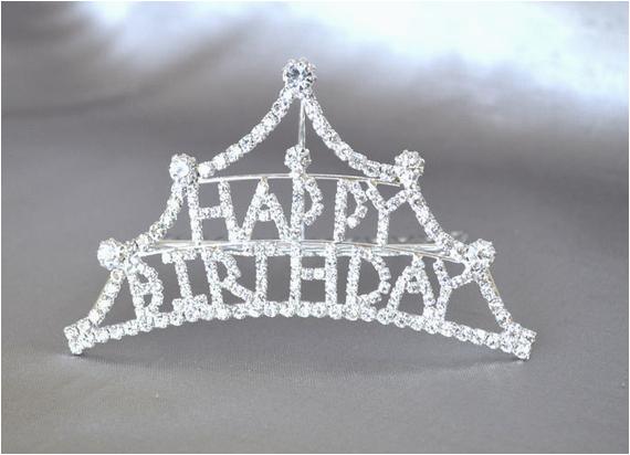 happy birthday head comb tiara with